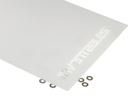 White and Clear Reverse Laserable Acrylic Sheet