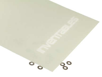 Glow in the Dark and Clear Reverse Laserable Acrylic Sheet
