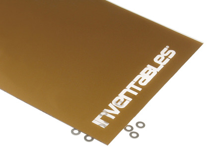 Gold and Clear Reverse Laserable Acrylic Sheet