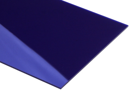 Dark Blue Mirrored Acrylic Sheet