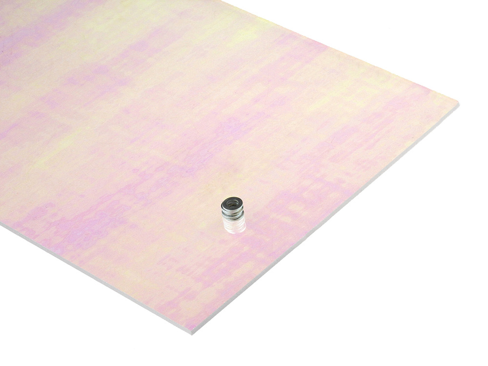 Iridescent acrylic sheet for Radiant plexiglass