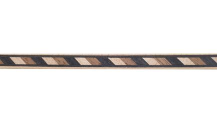 Walnut and Maple Striped Wood Inlay