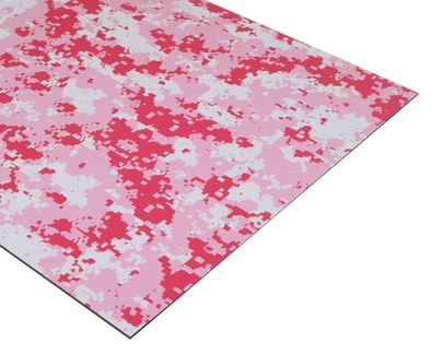 Pink Camouflage Engravable Acrylic Sheet