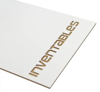 Matte White on Gold Engravable Acrylic Sheet