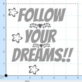 Follow your dreams mosaic tiles